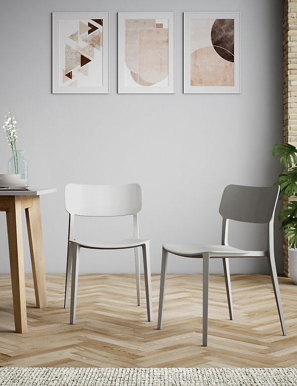 Set Of 2 Modern Dining Chairs Loft M S