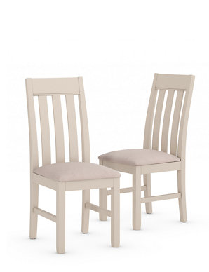 256 & Set of 2 Padstow Putty Fabric Dining Chairs