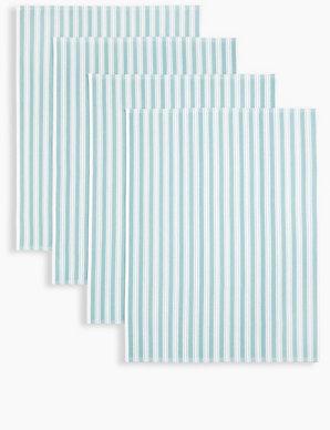 Set of 4 Pack Basket Weave Tea Towels