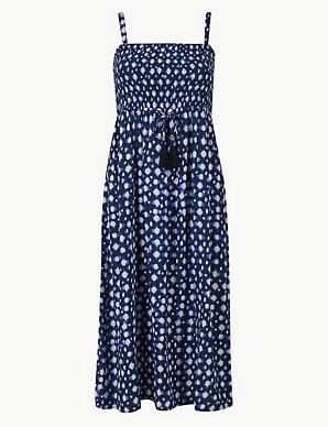 2163e0e67ad0 Shirred Beach Slip Dress | M&S Collection | M&S