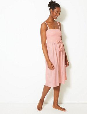 9c742f7271 Shirred Slip Beach Dress