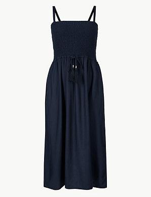 213ffe7f043 Shirred Swing Beach Dress