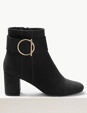 36a457cef828 Side Buckle Ankle Boots