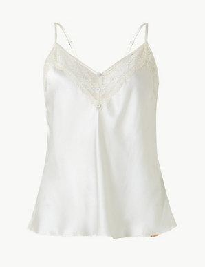 4ba0cb8cb0a Silk   Lace Camisole
