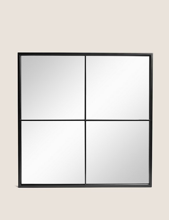 Simple Small Manhattan Mirror M S, 6 Pane Window Frame Mirror