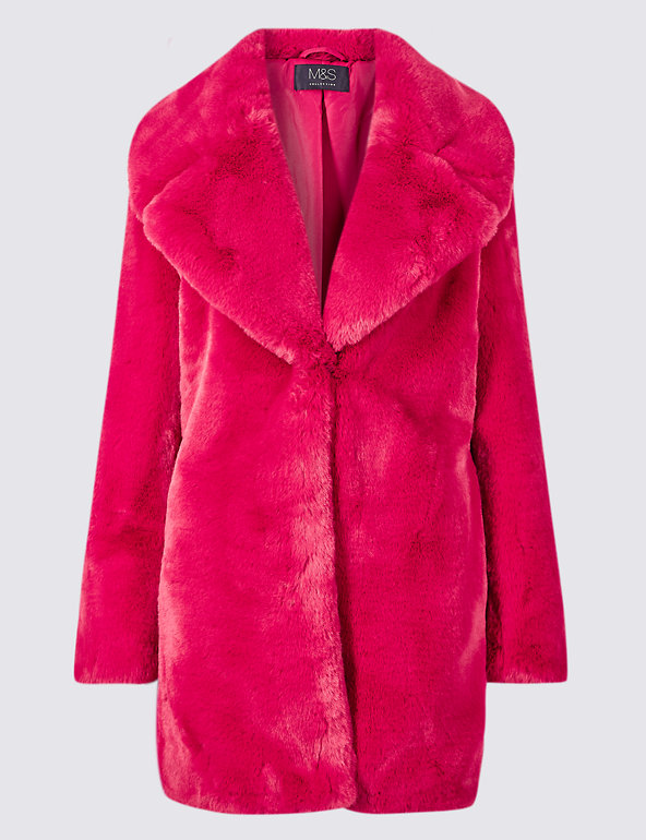 Marks & Spencer faux fur coat