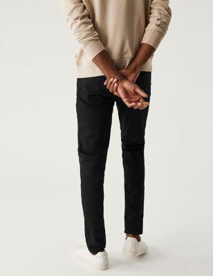 M/&s Marks Spencer Hommes Skinny Fit Smart Stretch Pantalon Chino Pantalon Vert Kaki BNWT