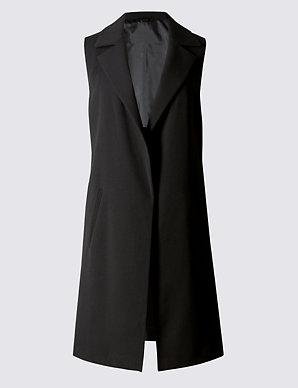 678c2eaf0 Sleeveless Longline Jacket