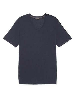 ea1c60322 Slim Fit Modal Rich T-Shirt with Wool   David Gandy for Autograph   M&S