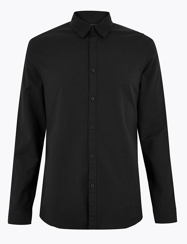 Slim Fit Oxford Shirt with Stretch