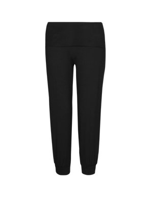 84d3ac28c509b Slim Fit Roll Top Cropped Yoga Pants | M&S Collection | M&S