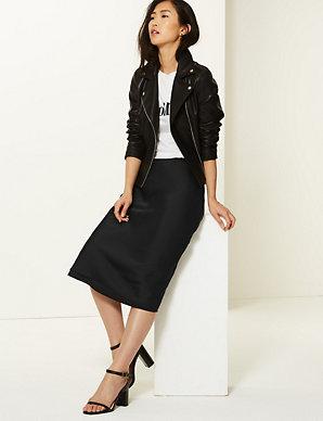 8e7103f5a69c Slip Midi Skirt | M&S Collection | M&S