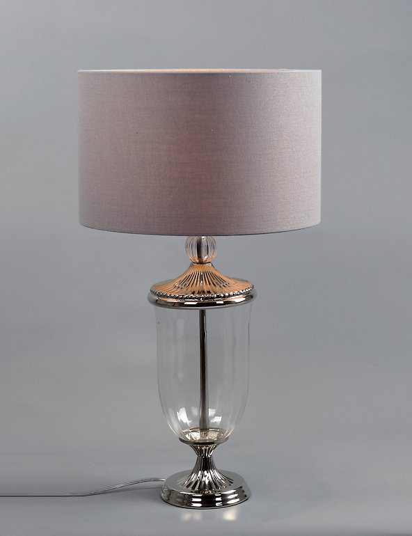 Smoked Glass Table Lamp | M&S
