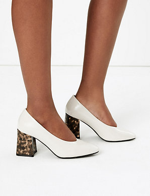 Block ShoesM Collection Court amp;s Snakeskin Effect Heel O0wN8nZXPk