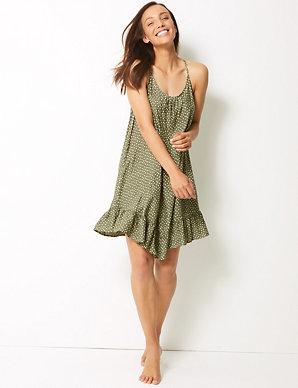 8ee43b4bd6eee Spot Print Flippy Slip Beach Dress | M&S Collection | M&S