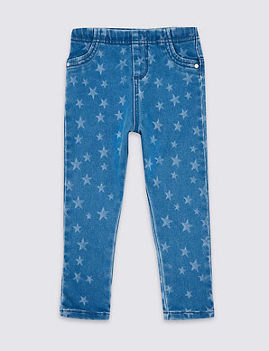 d127640872e8b Star Print Jeggings (3 Months - 7 Years) | M&S