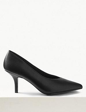 000427e8533 Stiletto Heel High Cut Court Shoes