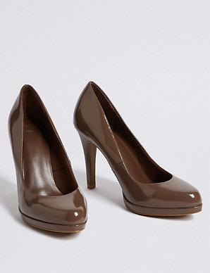 423cc8c5ff7 Stiletto Heel Platform Skin Tone Court Shoes