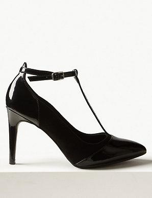 new products sale online official shop Stiletto Heel T-Bar Court Shoes