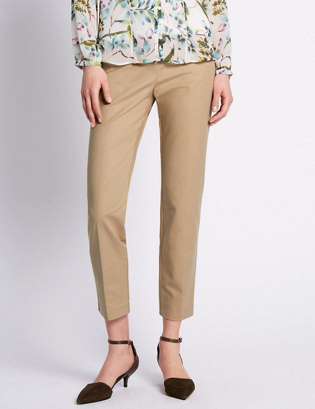 20 Medium or 18 Short 16 Per Una M/&S Stone Straight Leg Trouser Size: 8 NEW