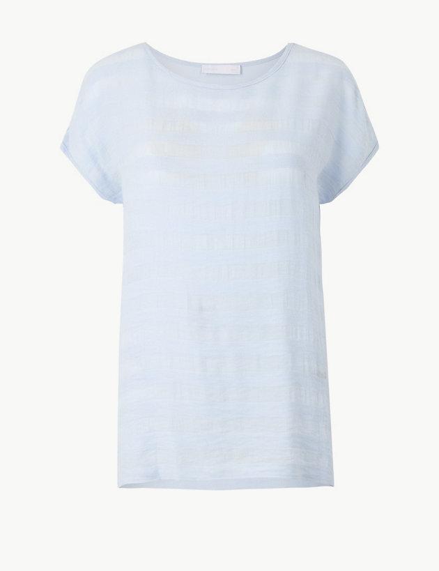 Striped Jersey Short Sleeve T-Shirt