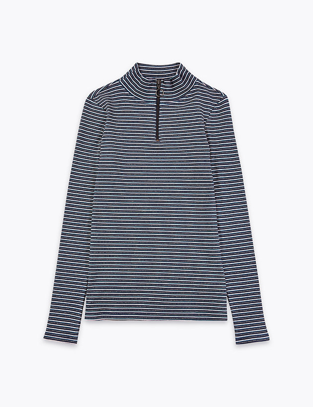 Striped Ribbed Top (3-16 Years)