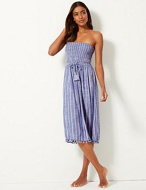 cdb1dbedf5e Striped Swing Beach Dress