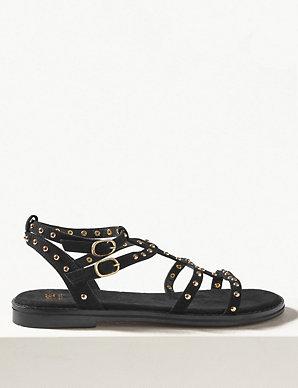 c60694da3e23 Studded Gladiator Sandals