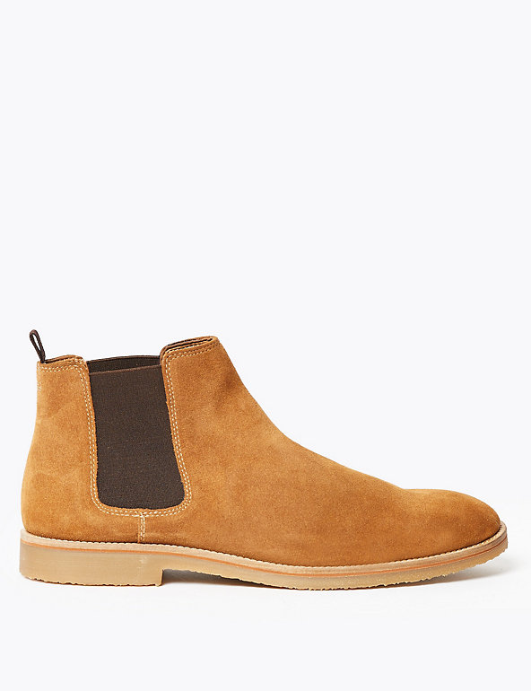 Suede Crepe Sole Chelsea Boots   M&S