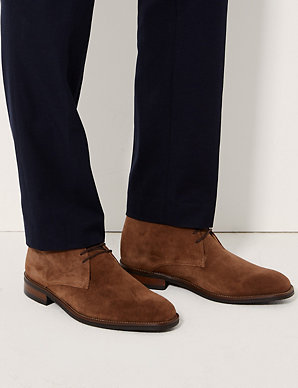 8341e27940c Suede Lace-up Chukka Boots