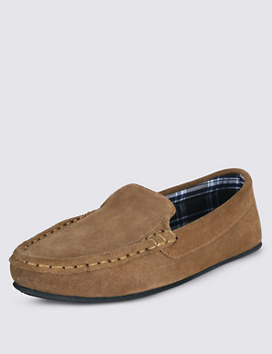 0154050d56ee Suede Moccasin Slippers with Thinsulate™ | M&S Collection | M&S