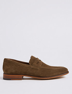 dbd0e7f16 Suede Saddle Slip-on Loafers | M&S Collection | M&S