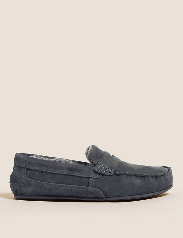 M&S Suede Slippers with Freshfeet™