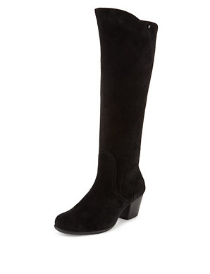 8bb798962c6 Suede Wide Fit Knee Boots with Stain Away™