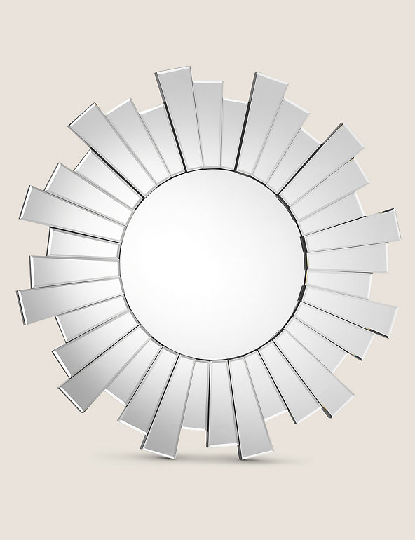 Sunburst Large Round Mirror M S, Round Sunburst Mirror