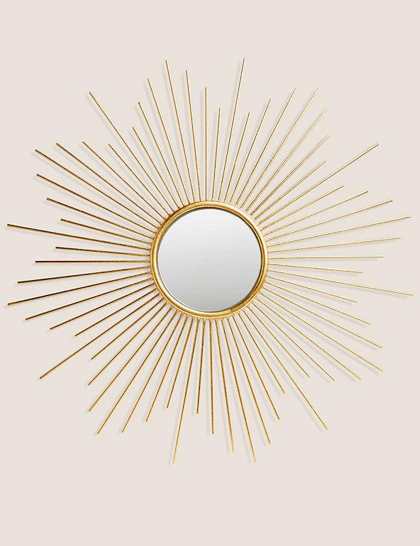 Sunburst Metal Round Mirror M S, Round Sunburst Mirror