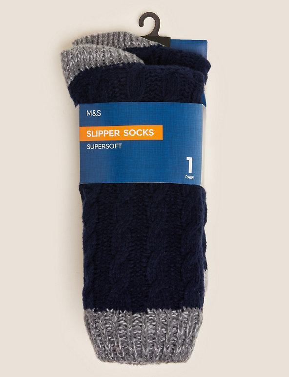 Elle Ladies Soft Hand Knitted Slipper Socks Pack of 1