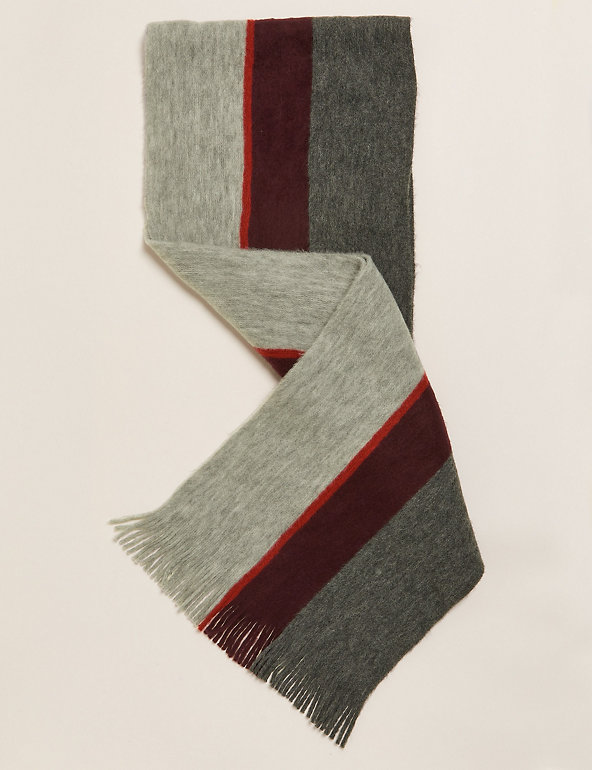 M&S Supersoft Striped Scarf