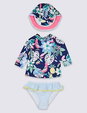a37e112d4f713 Swimsuit with Sun Safe UPF50+ (3 Months - 7 Years) | M&S