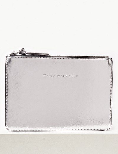 00f88708059 Faux Leather Clutch Purse   Marks   Spencer London