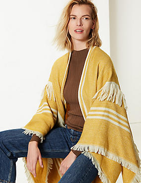 e9e254bc67a Striped Fringe Detail Wrap Striped Fringe Detail Wrap