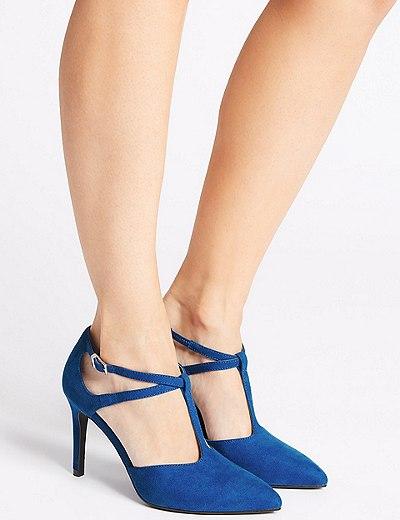 d4893093179 Stiletto Heel T-Bar Courts Shoes