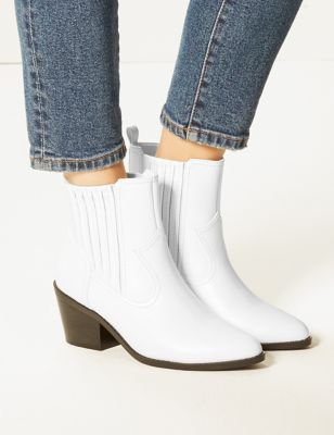 Block Heel Chelsea Western Boots by Tracked Express Delivery: