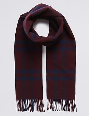 51fe6d6513d Kostkovaný šátek z čisté vlny Merino ...