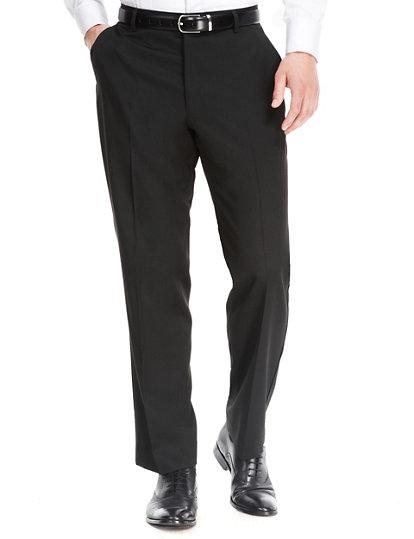 3f64254419fca Pantalon noir coupe standard | Hidden-Trousers | Marks and Spencer LU