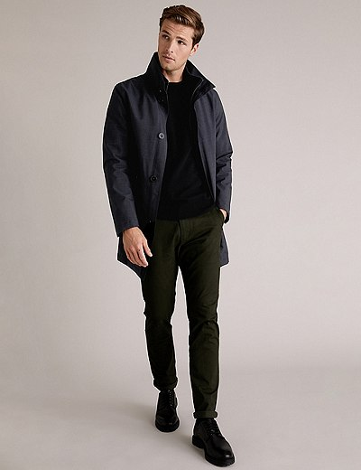 Imperméable matelassé à col cheminée, doté de la technologie Stormwear™