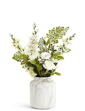 Artificial flowers single stem artificial plants ms ca delphinium rose in urn delphinium rose in urn mightylinksfo