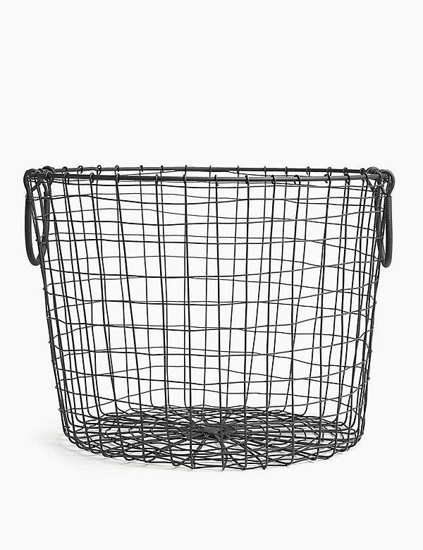 Wire Round Storage Basket, Large Round Wire Basket