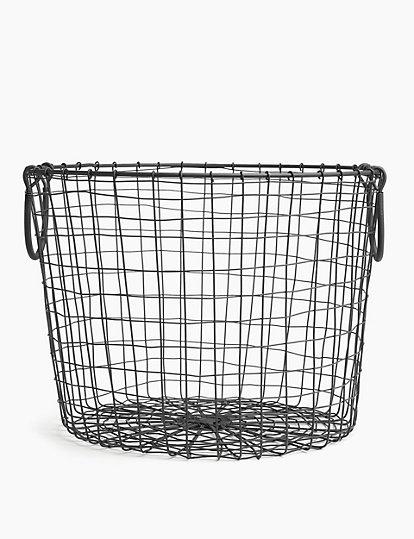 Round Wire Storage Basket Home