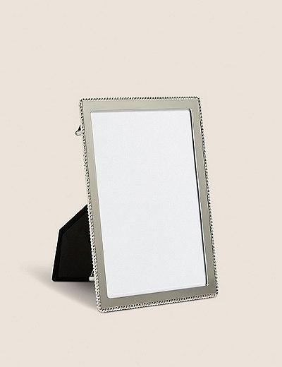 Cadre photo Emelie orné de perles 12 x 18cm